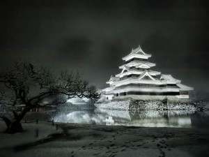 Matsumoto Castle in early March.